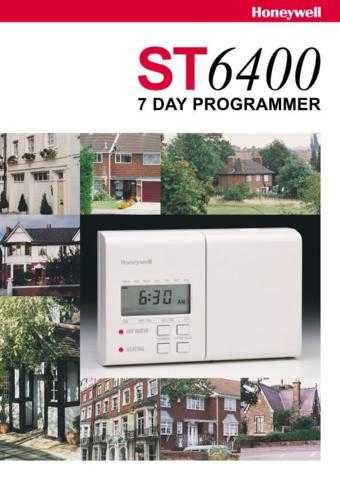 Honeywell ST6400 Timer User Instructions by download Mauritron #306644