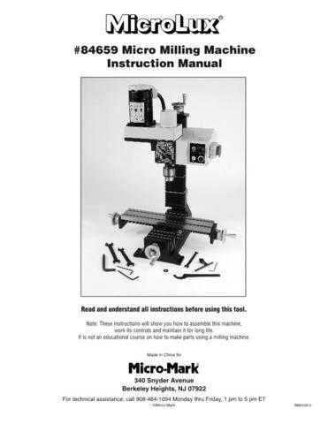 Micromark 84659 Micro Mill Operating Guide by download Mauritron #332307