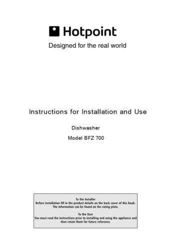 Hotpoint BFZ-680X 19504785001 Dishwasher Operating Guide by download Mauritron #31351