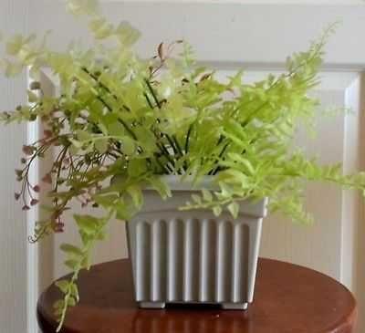 2 X PLANT PLASTIC FLOWER POT SQUARE CHARM DURABLE BIODEGRADABLE 15 X 15 X 13 CM