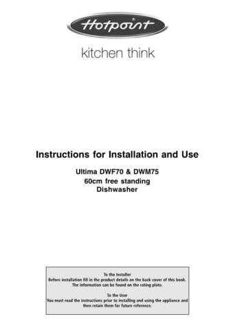 Hotpoint DWF50 DWM55 Dishwasher Operating Guide by download Mauritron #313572
