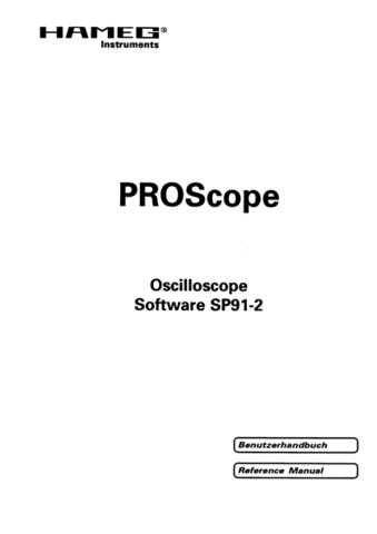 Hameg ProScope_SP91_2 Operating Guide by download Mauritron #307325