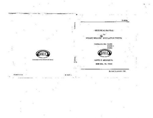 Megger 21-81J Operating Guide by download Mauritron #310003