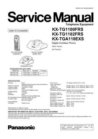 Panasonic TG1100FRS_FINAL Manual by download Mauritron #302257