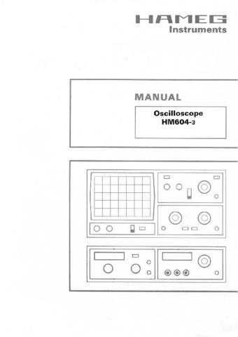 Hameg HM5530 Operating Guide in French by download Mauritron #309858