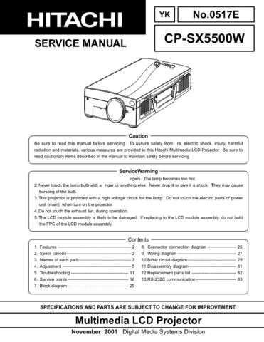 Hitachi cps220w Service Manual by download Mauritron #289121