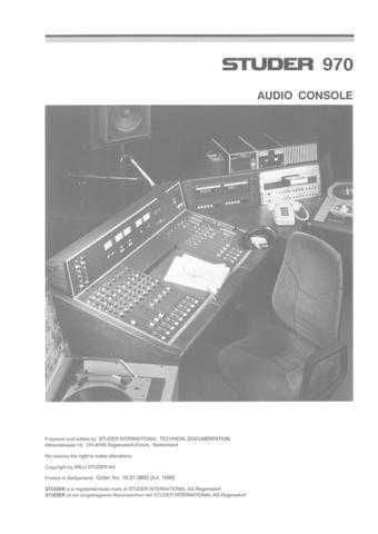 Studer 970_Serv by download Mauritron #313169