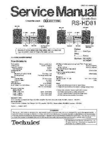 Sharp RS-HD81 Manual by download Mauritron #298518