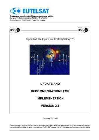 Panasonic UPDATE_RECOMM_FOR_IMPLIM Manual by download Mauritron #302568