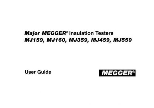 Megger 210400 a Operating Guide by download Mauritron #309971