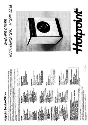 Hotpoint 9945 Laundry Operating Guide by download Mauritron #313455