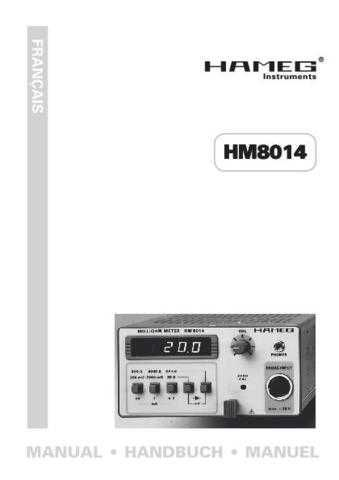 Hameg HM8012_D_GB_F_ES Operating Guide in French by download Mauritron #309869