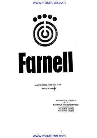 Farnell AMM-B Manual by download Mauritron #307090