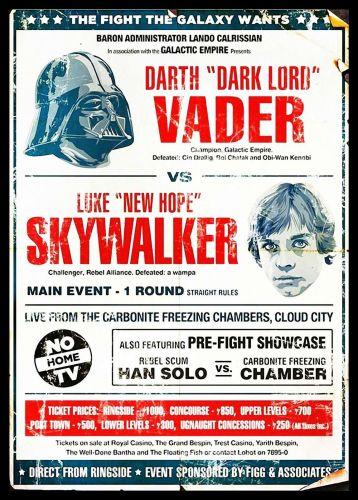 Dark Vader Sky Walker star wars . unframed canvas