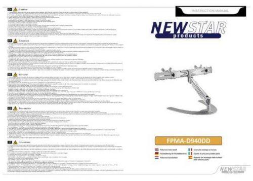 Newstar FPMA D940DD Audio Visual Instructions by download #333523