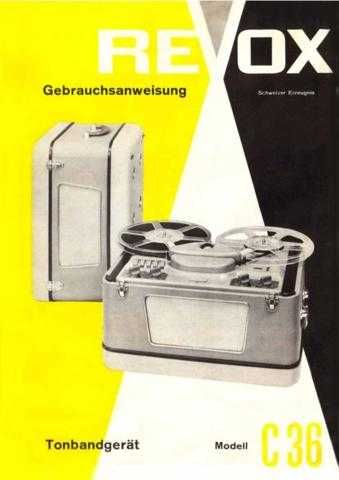 Revox C36 Operating Guide by download Mauritron #313050