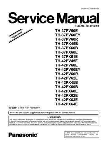 Panasonic TH-42PX64E Manual by download Mauritron #302383