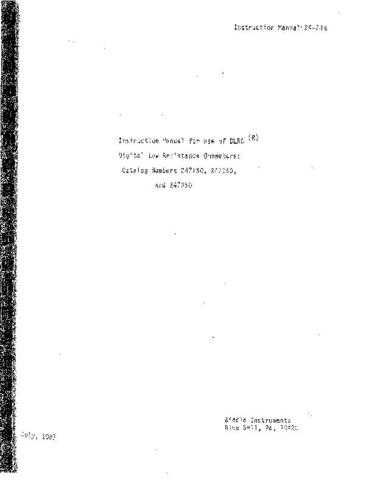 Biddle 247800 Operating Guide by download Mauritron #309339