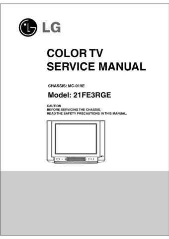 LG svc manual 21FE3RGE CDC-2183 Manual by download Mauritron #305930