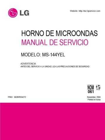 LG 3828W5S4272 CDC-2183 Manual by download Mauritron #304299