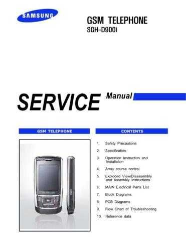 Samsung SGH-D900i Mobile Phone Service Manual by download Mauritron #306313