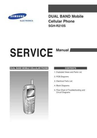 Samsung SGH-R210S Mobile Phone Service Manual by download Mauritron #306416