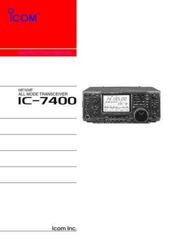 icom_ic-7400_manual by download Mauritron #322721