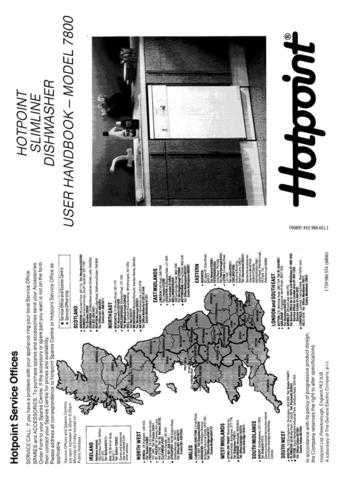 Hotpoint 7800 Dishwasher Operating Guide by download Mauritron #313319