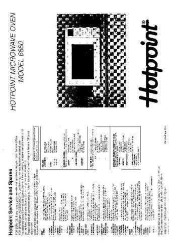 Hotpoint 6660 Microwave Oven Operating Guide by download Mauritron #309919