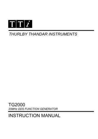 Thurlby TG2000 Operating Guide - by download Mauritron #317814