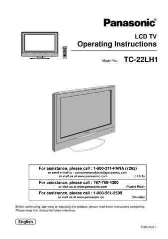 Panasonic TC15LV1L_SP_C0501 Manual by download Mauritron #301870