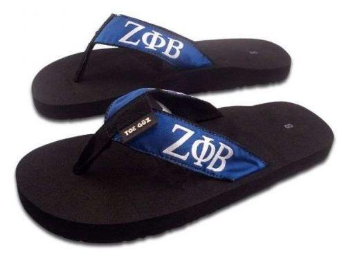 Zeta Phi Beta Polka Dot Flip Flops - Size 8