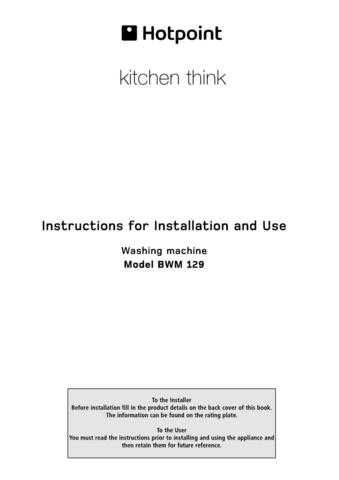 Hotpoint BWM-129 Washer Operating Guide by download Mauritron #307520