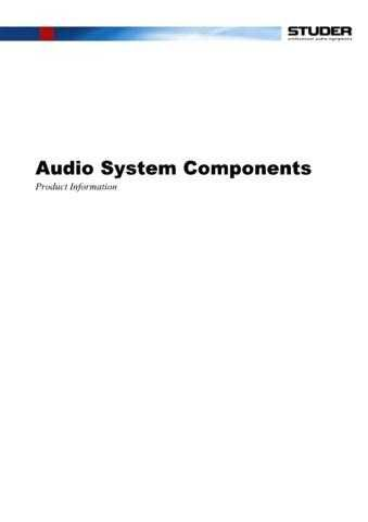 Studer AudioSystemComponents_PI_E by download Mauritron #313108
