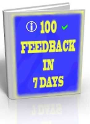 HOW TO GET 100 FEEDB4CK ON EBAY IN 7 DAYS - EBOOK + RESELL RIGHTS