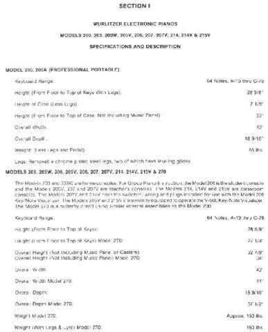 Wurlitzer Manual by download Mauritron #311761