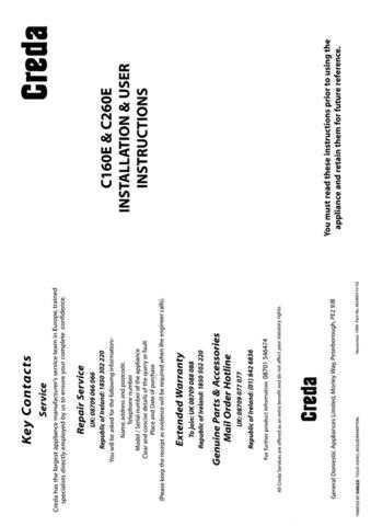 Creda C260 Operating Guide by download Mauritron #312822