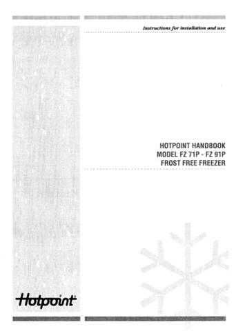 Hotpoint FZ91 Refrigeration Operating Guide by download Mauritron #313676