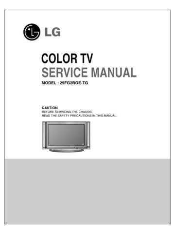 LG LG-Service Manual_29FG2RG_2 Manual by download Mauritron #305146