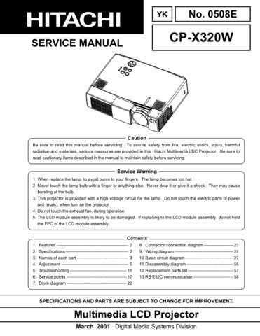 Hitachi YK-0508E Service Manual by download Mauritron #287555