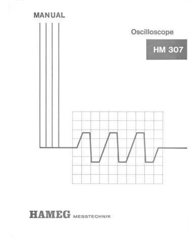 Hameg HM307 Operating Guide by download Mauritron #307175
