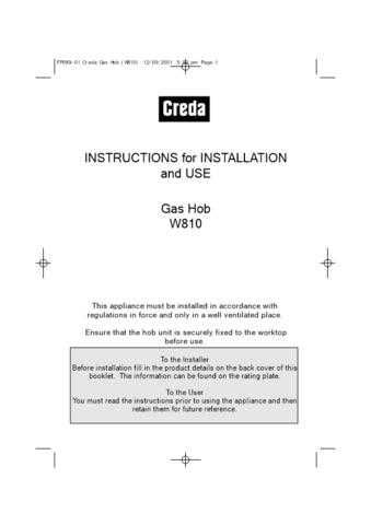 Creda HBW810 Operating Guide by download Mauritron #312993