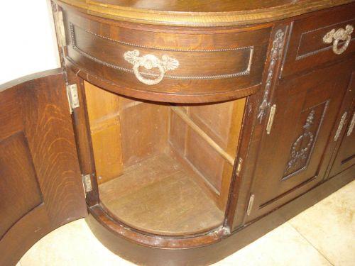 Antique Gatsby Era, Buffet Sideboard Server Console Hand Carved Walnut Original