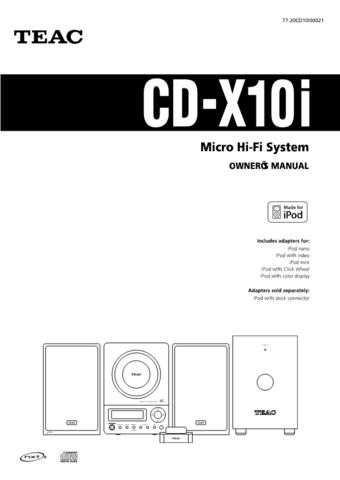 Teac CD-X6E Operating Guide by download Mauritron #318437