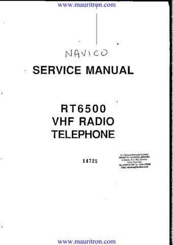 NAVICO RT6500 VHF PHONE by download Mauritron #312170