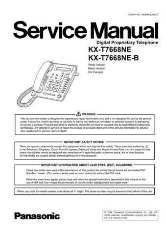 Panasonic T7668NEB_71 Manual by download Mauritron #301793