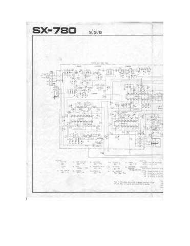 Pioneer SX-780 Schematic Circuit set Manual by download Mauritron #312581
