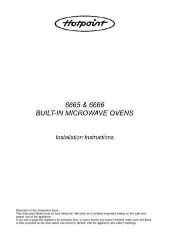 Hotpoint 6665 Microwave Oven Operating Guide by download Mauritron #309921