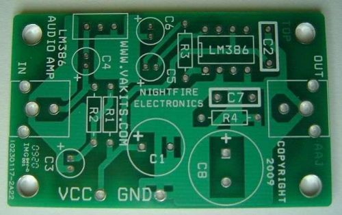 LM386 Audio Amplifier Kit w/ PCB (#1695)