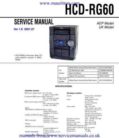 Sony HCD-RG60 Service Manual.jpg by download Mauritron #306701